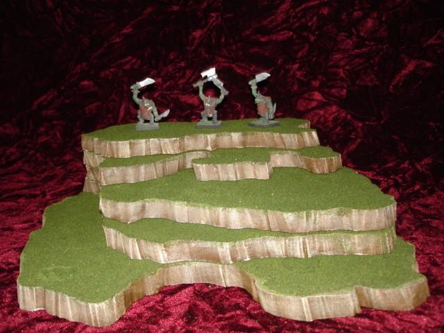 5 piece stackable wargame terrain hills set C51-5