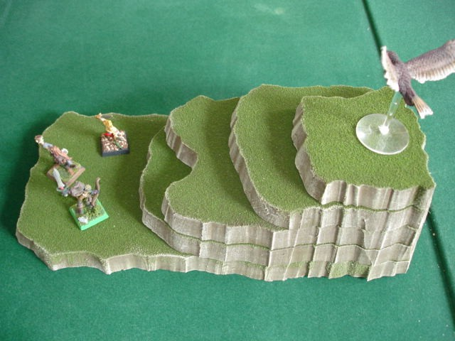 5 piece stackable wargame terrain hills set CE