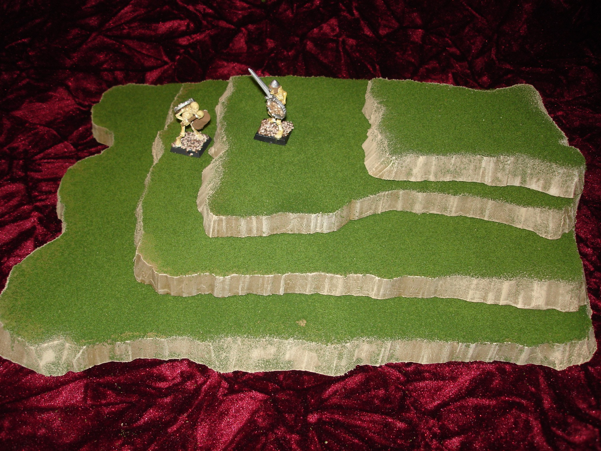 4 piece stackable wargame terrain hills set E224
