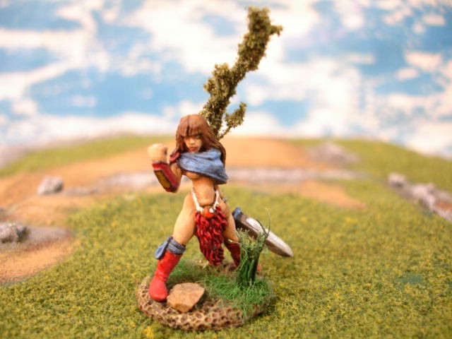 Lorna the Huntress painted miniature
