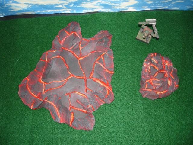 2 piece Lava Rocks wargame terrain set LRB-2