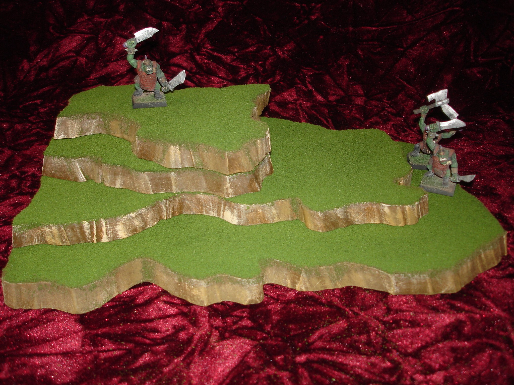 4 piece stackable wargame terrain hills set W4