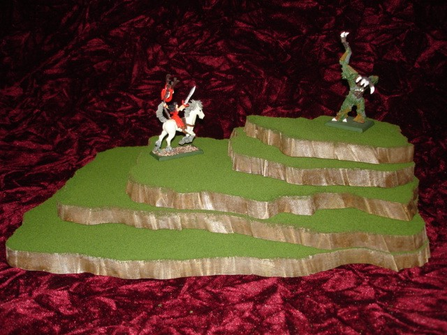 5 piece stackable wargame terrain hills set WO423-5
