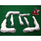 7 piece snow barricade wargame terrain set